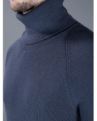 Label Under Construction - Gray Thermal Turtleneck Sweater for Men - Lyst