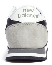 New Balance - Black and Gray 420 Suede Mix Sneakers - Lyst