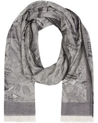 Alexander McQueen | Black And Grey Camouskull Jacquard Scarf for Men | Lyst