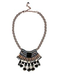 Nocturne | Black 'elisa' Frontal Necklace | Lyst