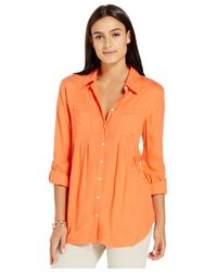 Style & Co. | Orange Petite Utility Shirt | Lyst