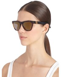 Westward Leaning - Black Wintermute Square Acetate Sunglasseshavana - Lyst