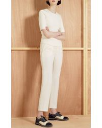 Bouchra Jarrar - White Canvas Cropped Pants - Lyst