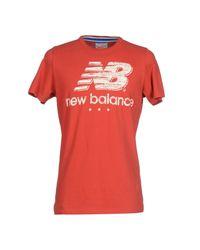 New Balance Red T-shirt for men