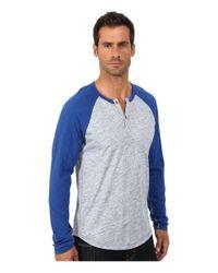Lucky Brand | Blue Long Sleeve Raglan Henley for Men | Lyst