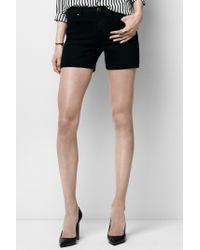 J Brand Black Leigh Highrise Shorts