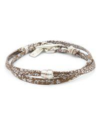 1-100 | Metallic Small Bead Rawhide Bracelet | Lyst