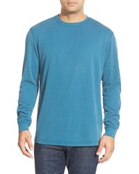 Bugatchi | Blue Long Sleeve Crewneck Sweatshirt for Men | Lyst