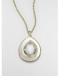 Ippolita | Metallic Motherofpearl Clear Quartz Pendant Necklace | Lyst
