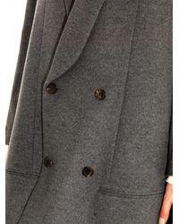 Undercover Gray Wool-Blend Swing Coat