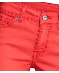 H&M Red Jeans Super Skinny Fit