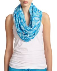 Lilly Pulitzer Blue Riley Infinity Scarf