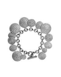 David Yurman - Metallic Cable Coil Charm Bracelet - Lyst