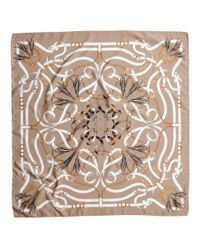 H&M Natural Patterned Satin Scarf