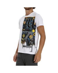 Just Cavalli | White T-shirt for Men | Lyst