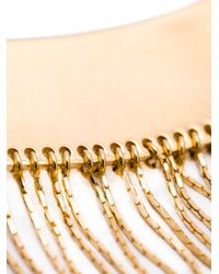 Balmain - Metallic Long Fringed Necklace - Lyst