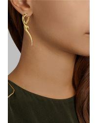 Iam By Ileana Makri | Metallic Boa Gold-Plated Tsavorite Earrings | Lyst