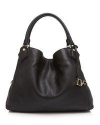 Diane von Furstenberg Black Voyage Slouchy Shoulder Bag