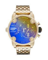 DIESEL Metallic Diesel 'little Daddy' Chronograph Bracelet Watch for men