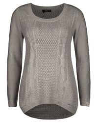 Dex   Gray Longsleeve Highlow Sweater   Lyst