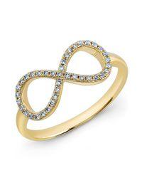 Anne Sisteron Metallic 14kt Yellow Gold Diamond Large Infinity Ring