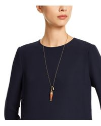 Tory Burch | Metallic Fish Charm Necklace | Lyst