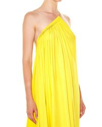 Stella McCartney | Yellow Astrid Asymmetric Gown | Lyst