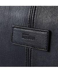 Alexander McQueen - Blue De Manta Leather Holdall Bag for Men - Lyst