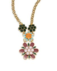 Kate Spade | Multicolor Bold Blooms Pendant Necklace | Lyst