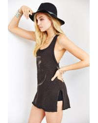 Truly Madly Deeply - Black Racerback Moon Tank Top - Lyst