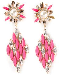 Shourouk | Pink 'cobra' Earrings | Lyst