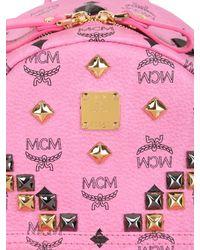 MCM Pink Small Stark Studded Backpack for men