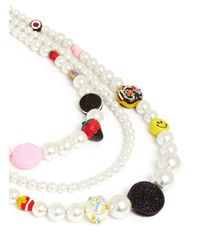 Venessa Arizaga | White 'snack Attack Pearl' Necklace | Lyst