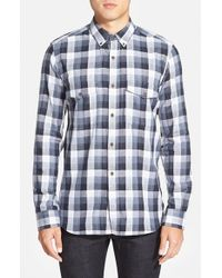 French Connection - Gray 'wilton County Check' Slim Fit Sport Shirt for Men - Lyst