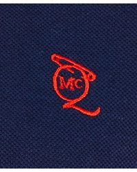 McQ - Blue Navy Logo Cotton Polo Shirt for Men - Lyst