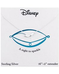 Disney | Metallic Cinderella Glass Slipper Necklace In Sterling Silver | Lyst