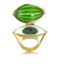 Bernard Delettrez | Metallic Bronze Poison Ring W/eye | Lyst