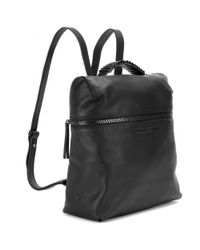 McQ - Black Leather Backpack - Lyst