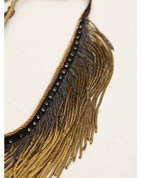 Free People - Metallic Flyaway Fringe Collar - Lyst