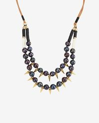 Lizzie Fortunato | Black Exclusive Sea Spike Double Pearl Necklace | Lyst