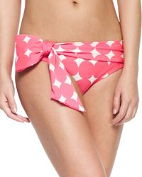 kate spade new york - Orange Marmount Swim Bottom With Side Bow - Lyst