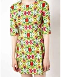 ASOS Green Sister Jane Psychedelic Jungle Print Dress