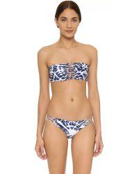 Mikoh Swimwear | Blue Sunset Bandeau Bikini Top | Lyst