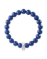 Thomas Sabo | Blue Charm Club Lapis Lazuli Stone Bracelet | Lyst
