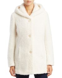 Jessica Simpson | Natural Hooded Pile Coat | Lyst