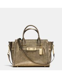 COACH | Metallic Swagger 27 Pebbled-Leather Shoulder Bag | Lyst