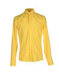 Les Hommes - Yellow Shirt for Men - Lyst