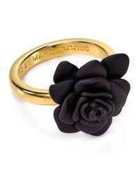 Marc By Marc Jacobs | Metallic Rubber Jerrie Rose Ring | Lyst
