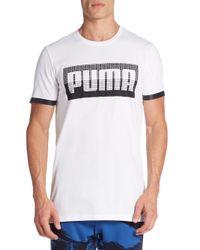 PUMA - White Bonded Logo Tee for Men - Lyst