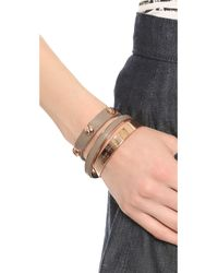 Marc By Marc Jacobs - Pink Screw Leather Cuff Bracelet  - Lyst